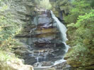 Big Bradley Waterfall near Saluda North Carolina