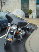 FastFred's wet motorcycle in Asheville